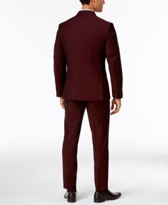 Burdeos Blazer Corte Slim Para Xl De Hombre Cía Macy's Creado Red qwt5dx4t