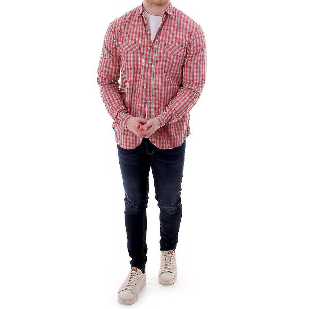 Cuadros Verde A Camisa Paul S Smith Rojo Para Jeans Hombre Clásica w1Y0Yqzn