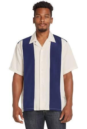 9 Coronas Camisa Con Botones Del Campamento Retro Abotonada Bahama De AAz8q