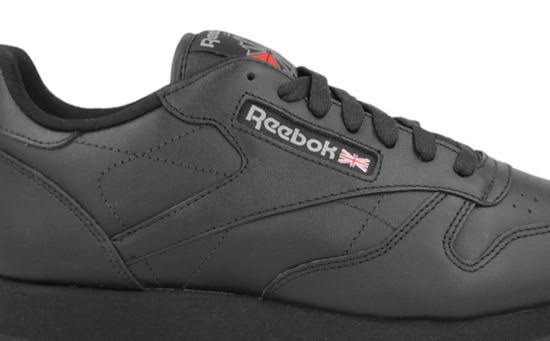 Classic Black Leather Trainers Kids Junior Reebok vPwOq6Od
