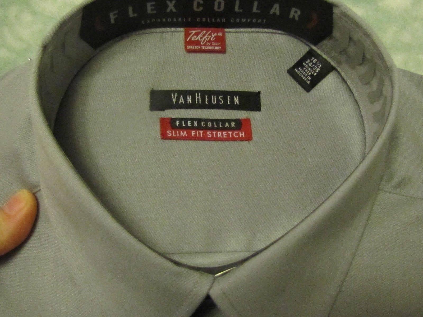 34 Vestir 5 Corte 16 35 De Hombres Con Camisa Gris Ajustado Recto Van Cuello Para Heusen 4S6O5wqx
