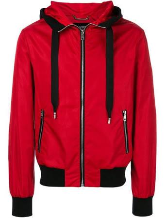 amp; Capucha Con Y Gabbana Chaqueta En Rojo Contraste Dolce Detalles O0d55
