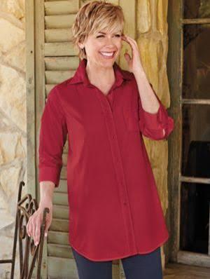 Roja Grande Camisa Para Resistente S Arrugas Las Talla Mujer A 7UfaRqU
