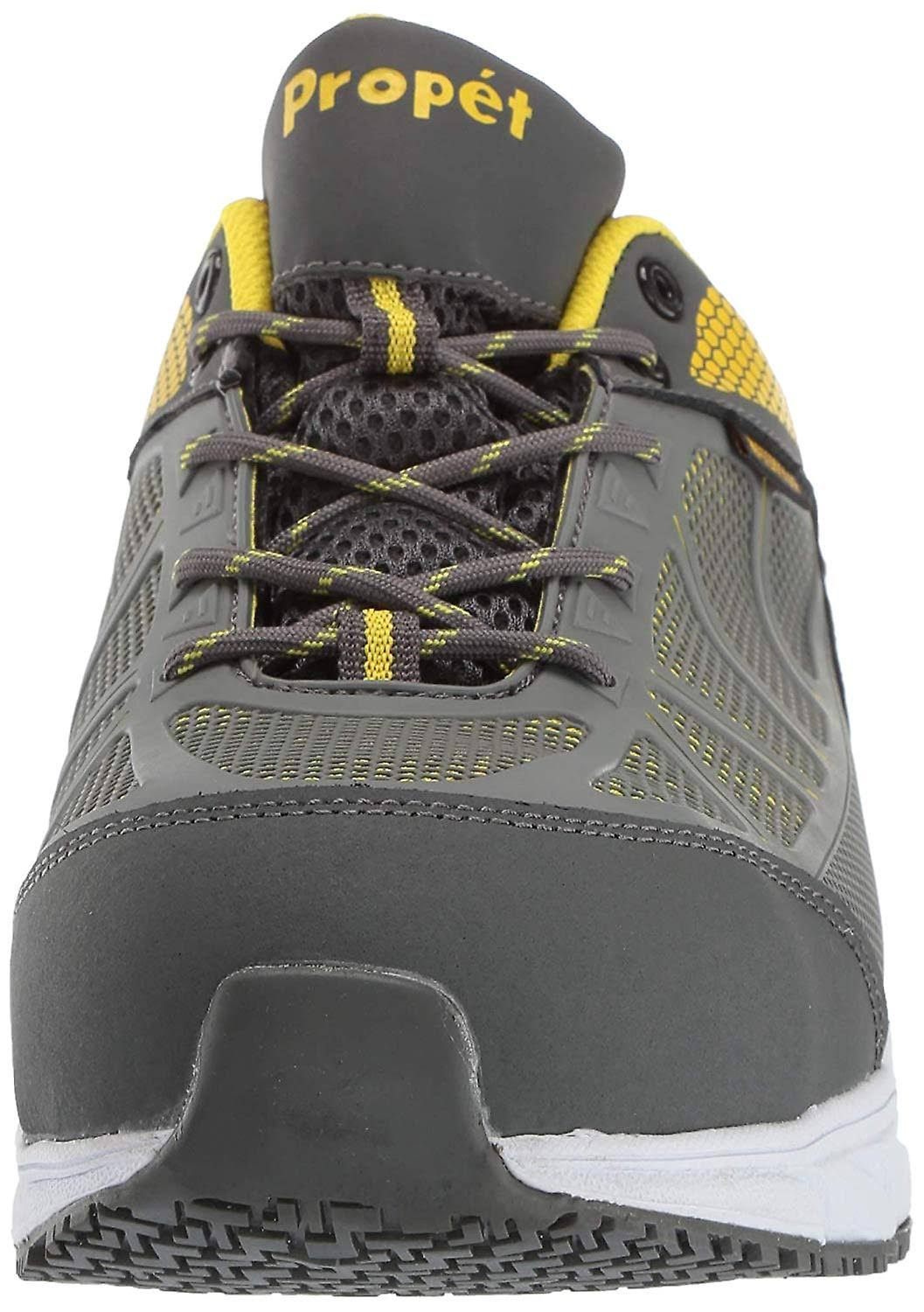 Propét Mens Seeley Leather Composite Toe Lace Up Safety Shoes Grey 7.5 US / 7 UK
