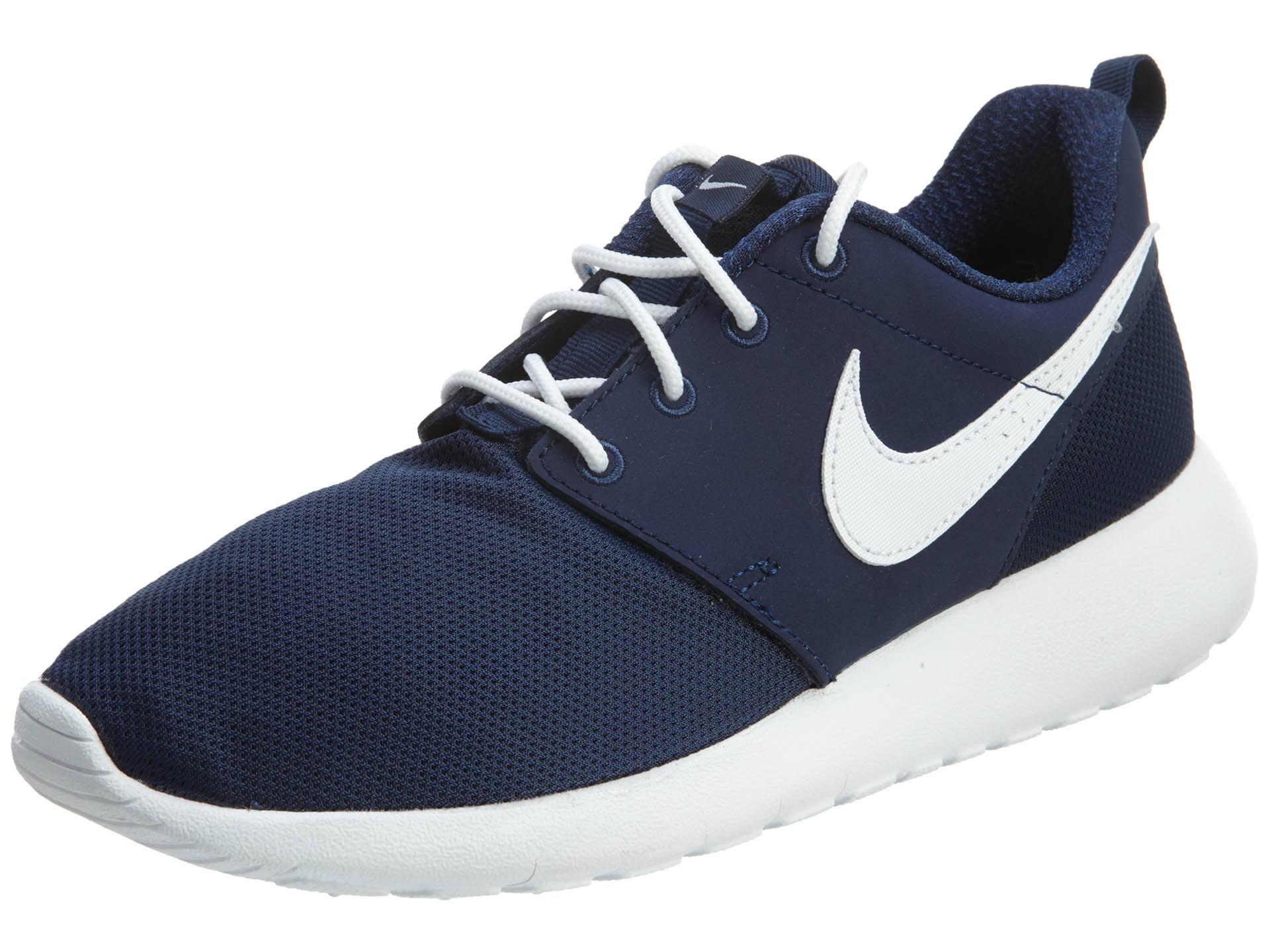 Midnight Navy 7 Roshe Weiß One 416 gs 599728 Nike Kids Laufschuh wzPfn8X