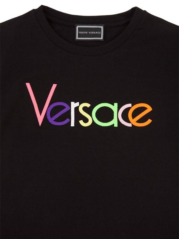 Girls Bestickt 10 Versace Junge Jahre Black S top Logo zY5qxBxnS