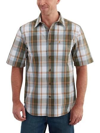 Essential Carhartt Plaid Open Herren Collar Regular Kurzarmhemd gBBwSa