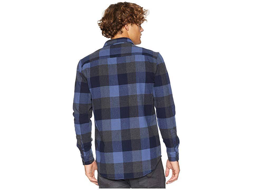 Quiksilver Elástica Xl Manga Camisa Franela Talla Larga De Hombres Azul B7IBqHX