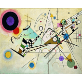 'Composition Viii' by Wassily Kandinsky - Wrapped Canvas Painting Print ClassicLiving Size: 40cm H x 50cm W x 2.2cm D