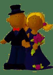 Bryllupsfigur Lykkeligt brudepar 9cm