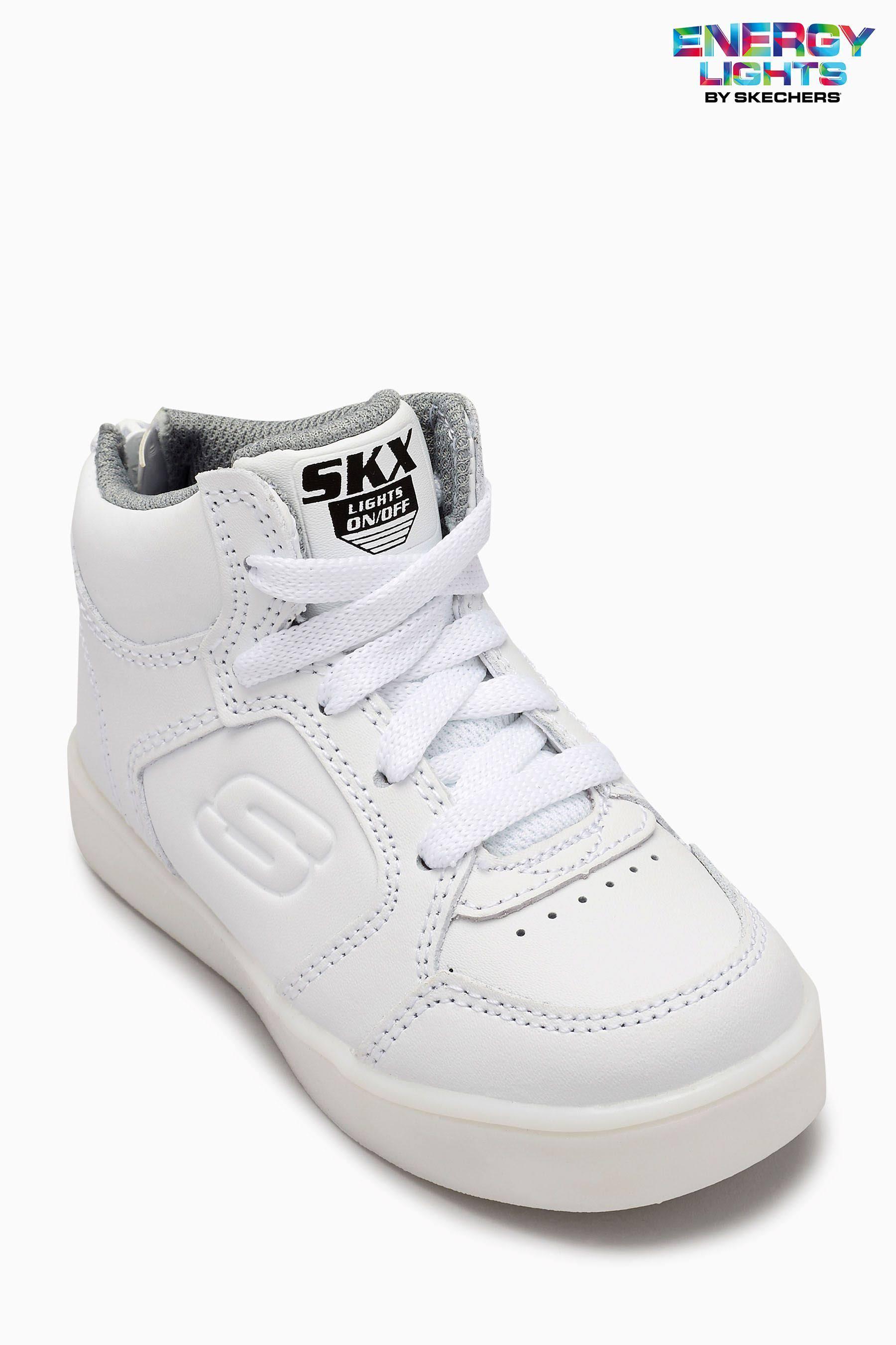 Pequeños Skechers Energy Blanco Para De Boys Deporte Niños Zapatillas Lights 88r7pzcqH