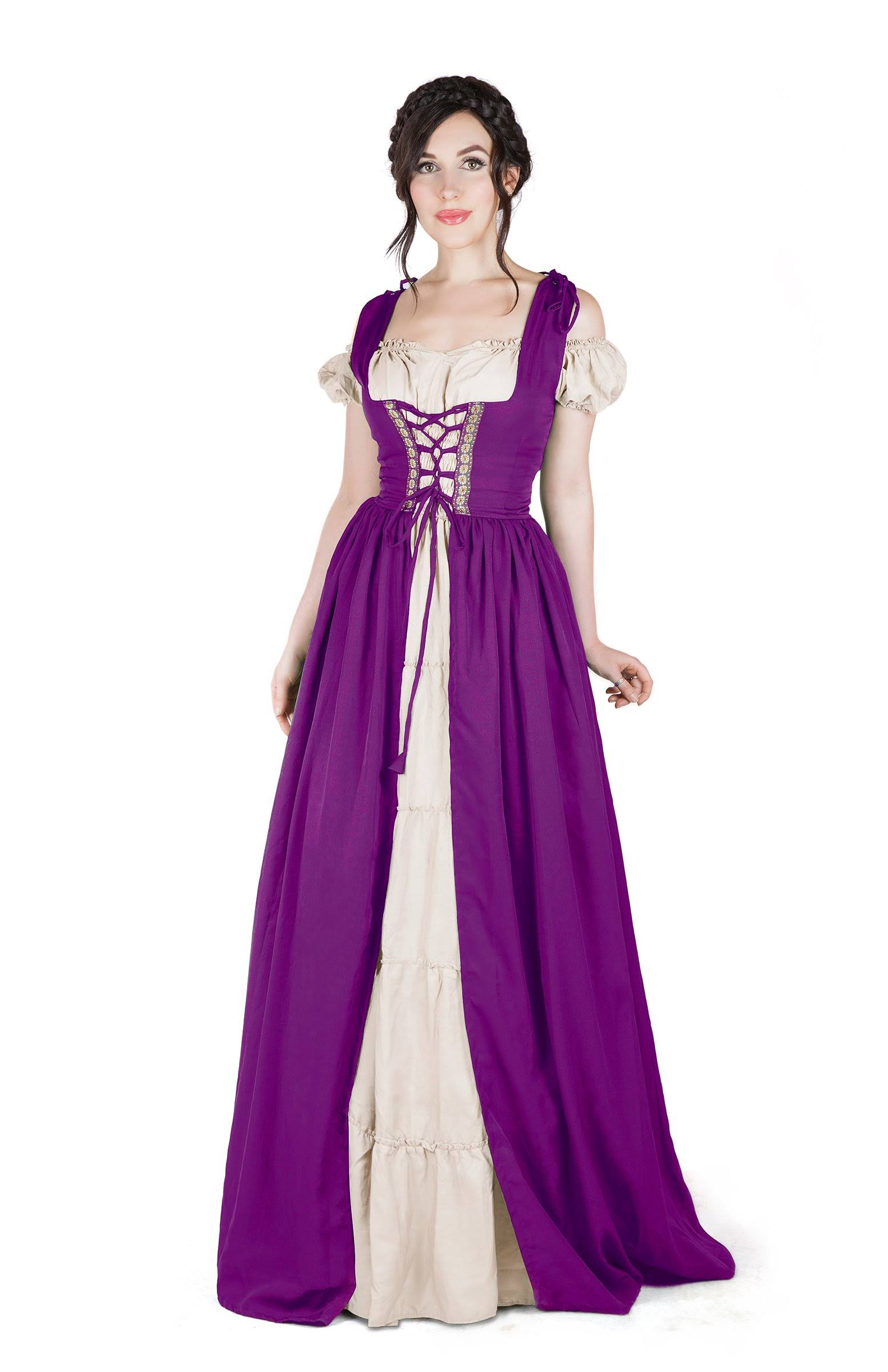 Traje Vestido Boho Irlandés Camisa Y Medieval Set Sobre 5g8q0