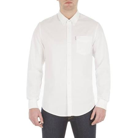 Manga Sherman Camiseta Hombre De Oxford Ben Larga Xxl Blanco 566OpwZq