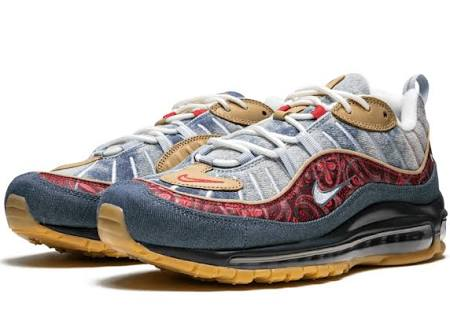 Air Max 98 Wild West Mens LT ARMORY BLUE/UNIVERSITY RED (Size: 12)  4GvioQ8