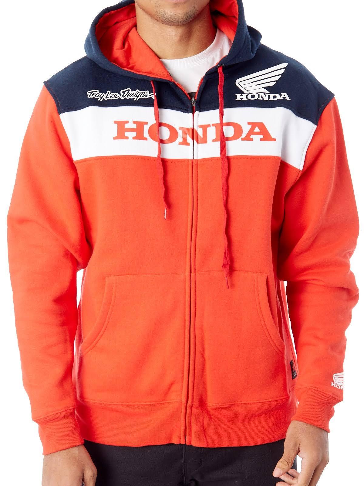 Xl Con Sudadera Tamaño Y Honda Capucha Wings Cremallera zTfUq