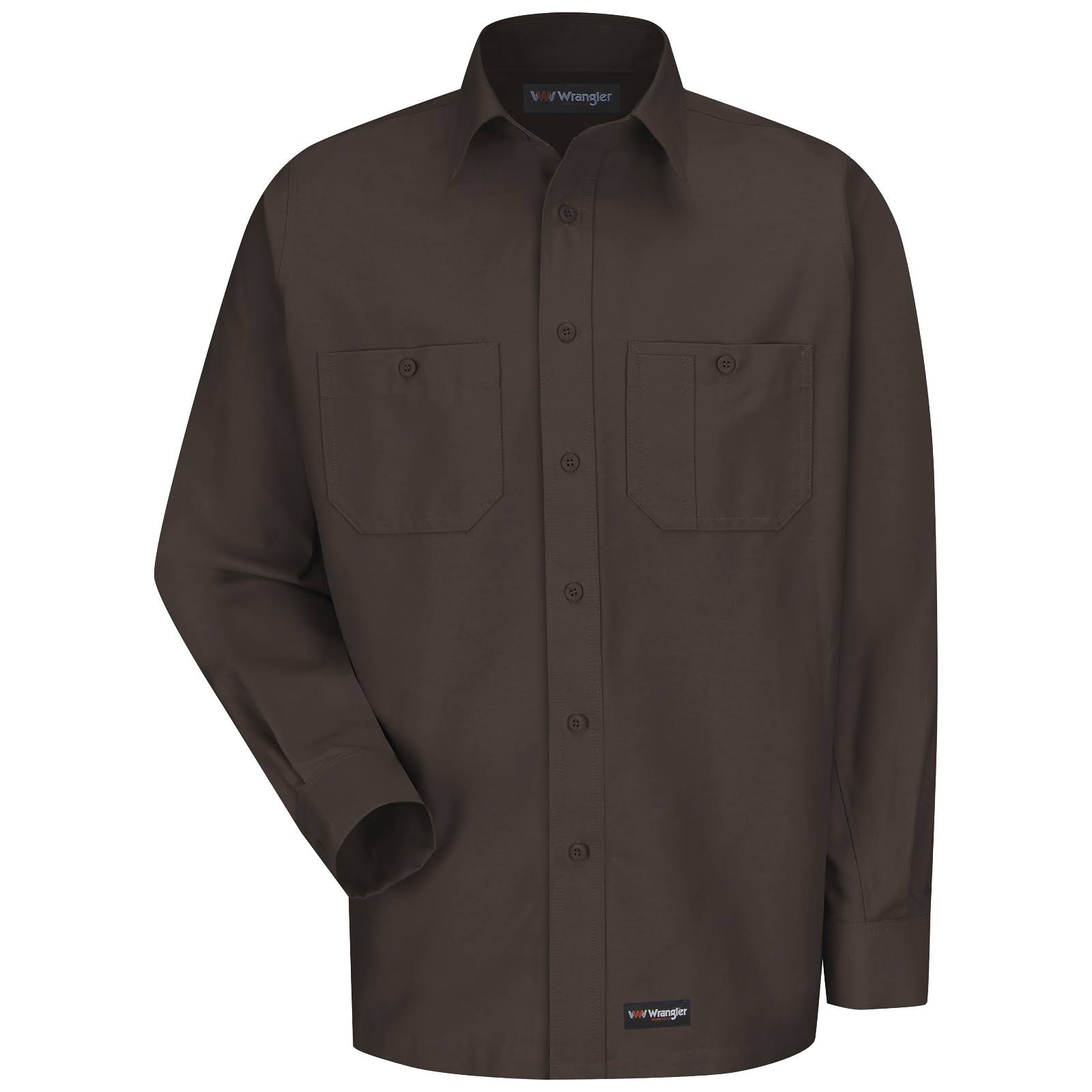 Lona s para Hombres Marrón Camisa Manga De Trabajo Larga XSEg8