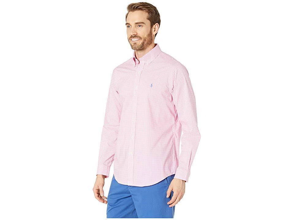 Xxl De Hombre Polo Lauren Tamaño Rosa Camisa Algodón Ralph Para Vichy 101Hvpwn