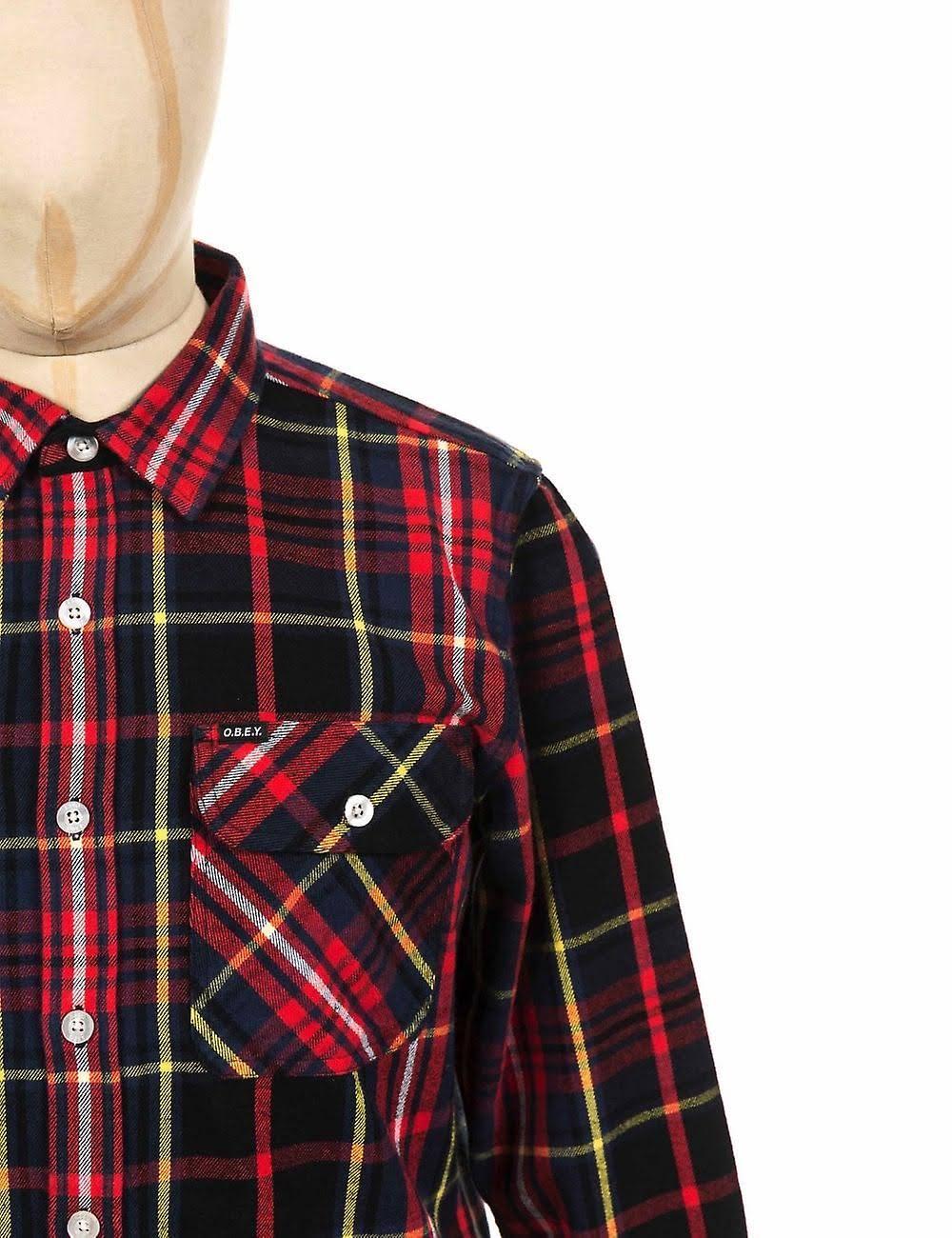 Obedecer Grande Franela Ropa Nelson Camisa De Negro Multi OZwfxOzrq