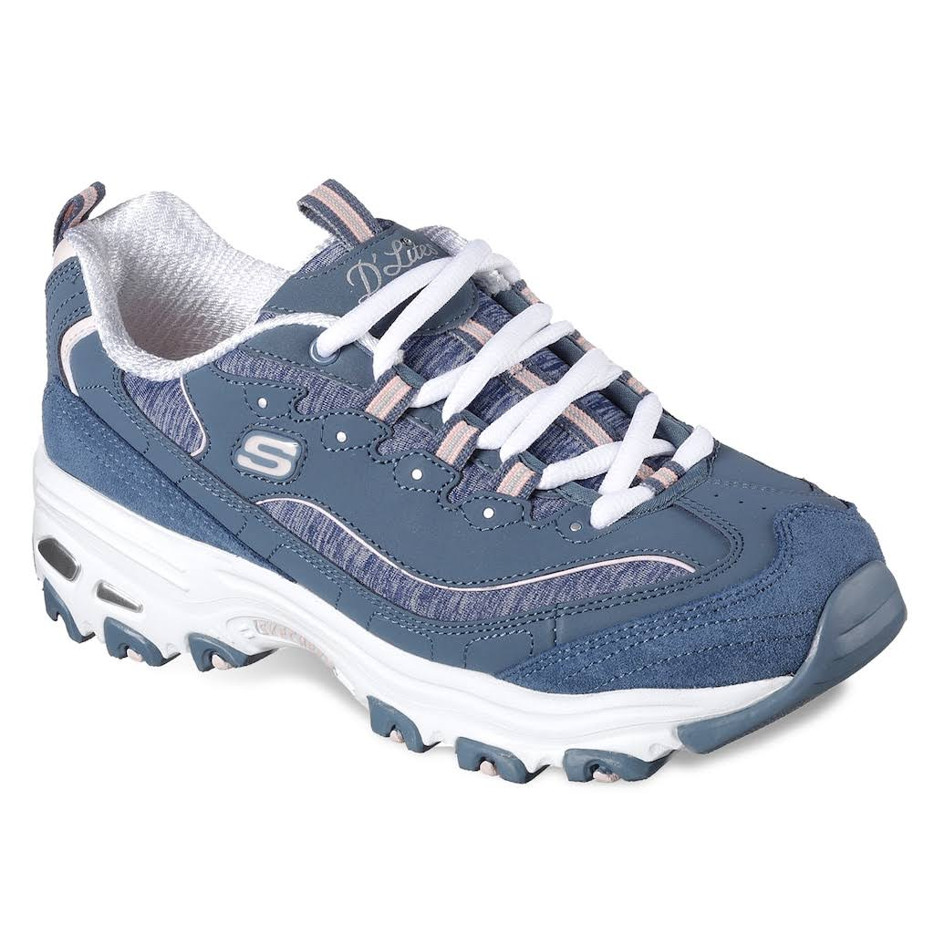0 Skechers Me Para D'lites Grey Time Athletic 5 Mujer Shoes nFBz7q