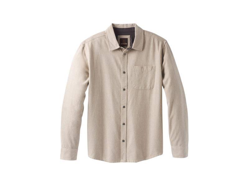 Prana Woodman Men's Dark Flannel L Khaki rRd8rWgvaq