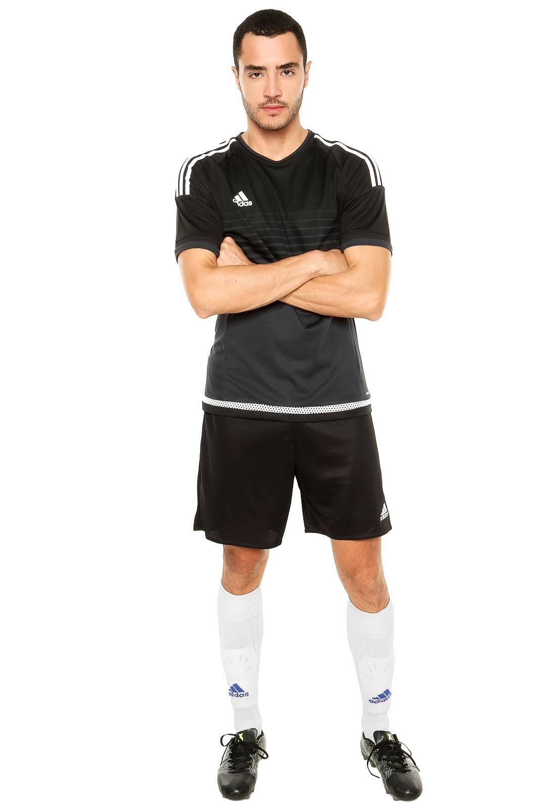 Parma Adidas Curtas Xl 16 Preto Calças fxxqwFdBH