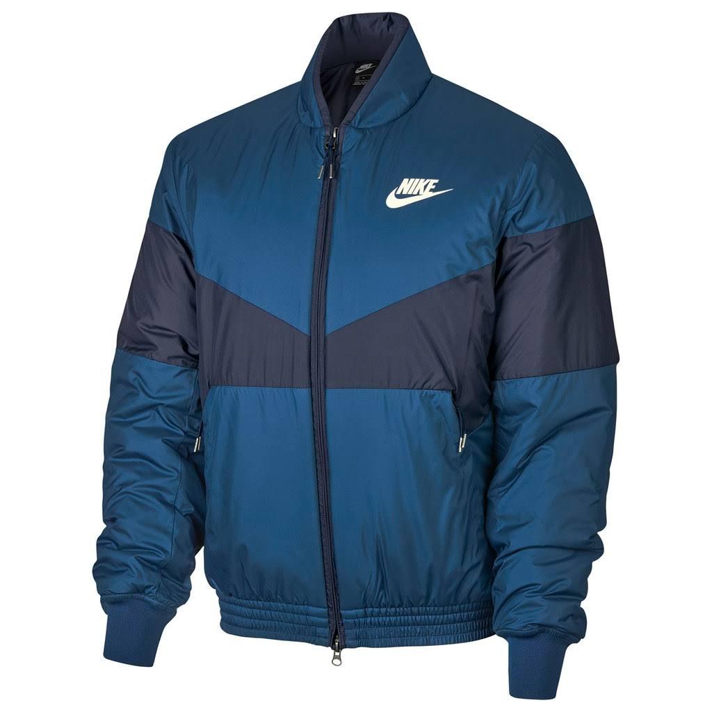 Para Nike Hombre Azul Chaqueta Grande Tamaño Bomber HTqWdcw6E