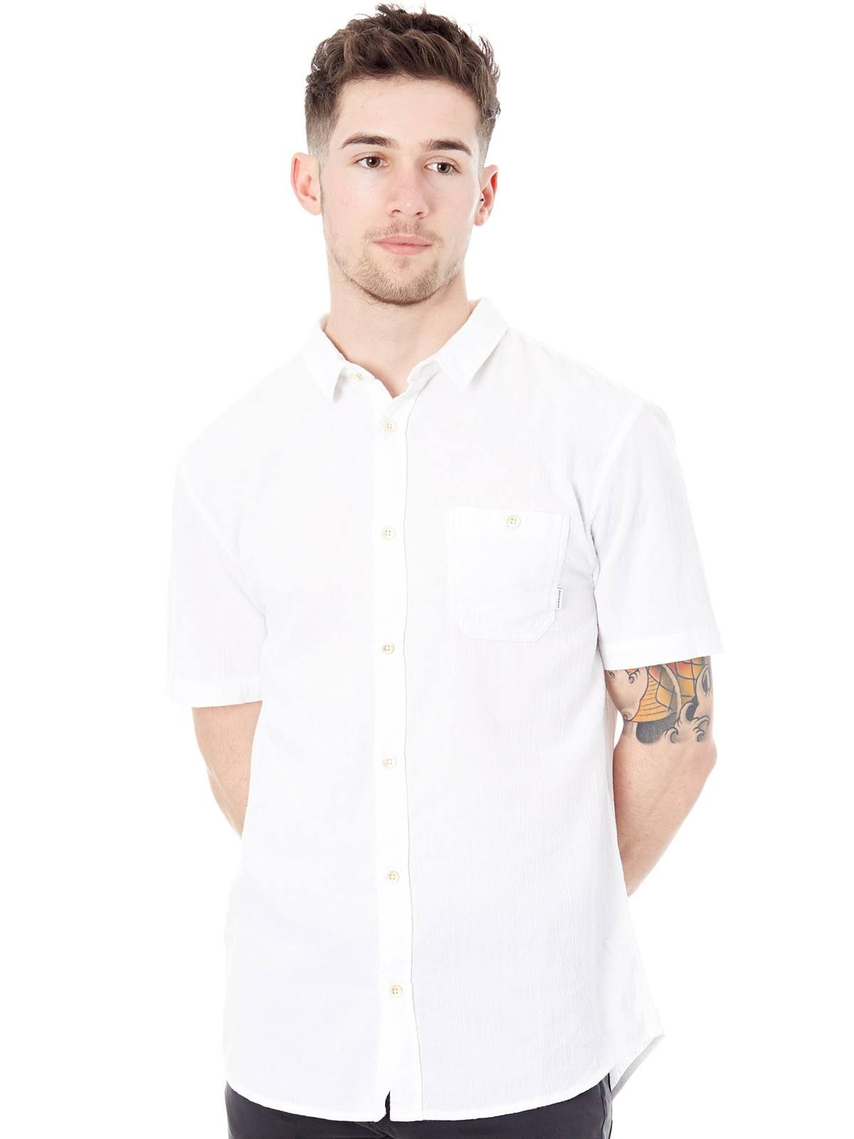 Snow Manga Corta Box Large White Time De Quiksilver New Camisa Sw460H