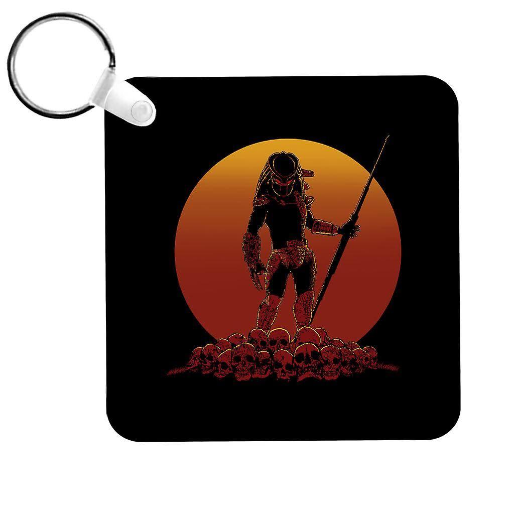 Cloud City 7 Hunter on Sunset Predator Keyring Black 5cm x 5cm