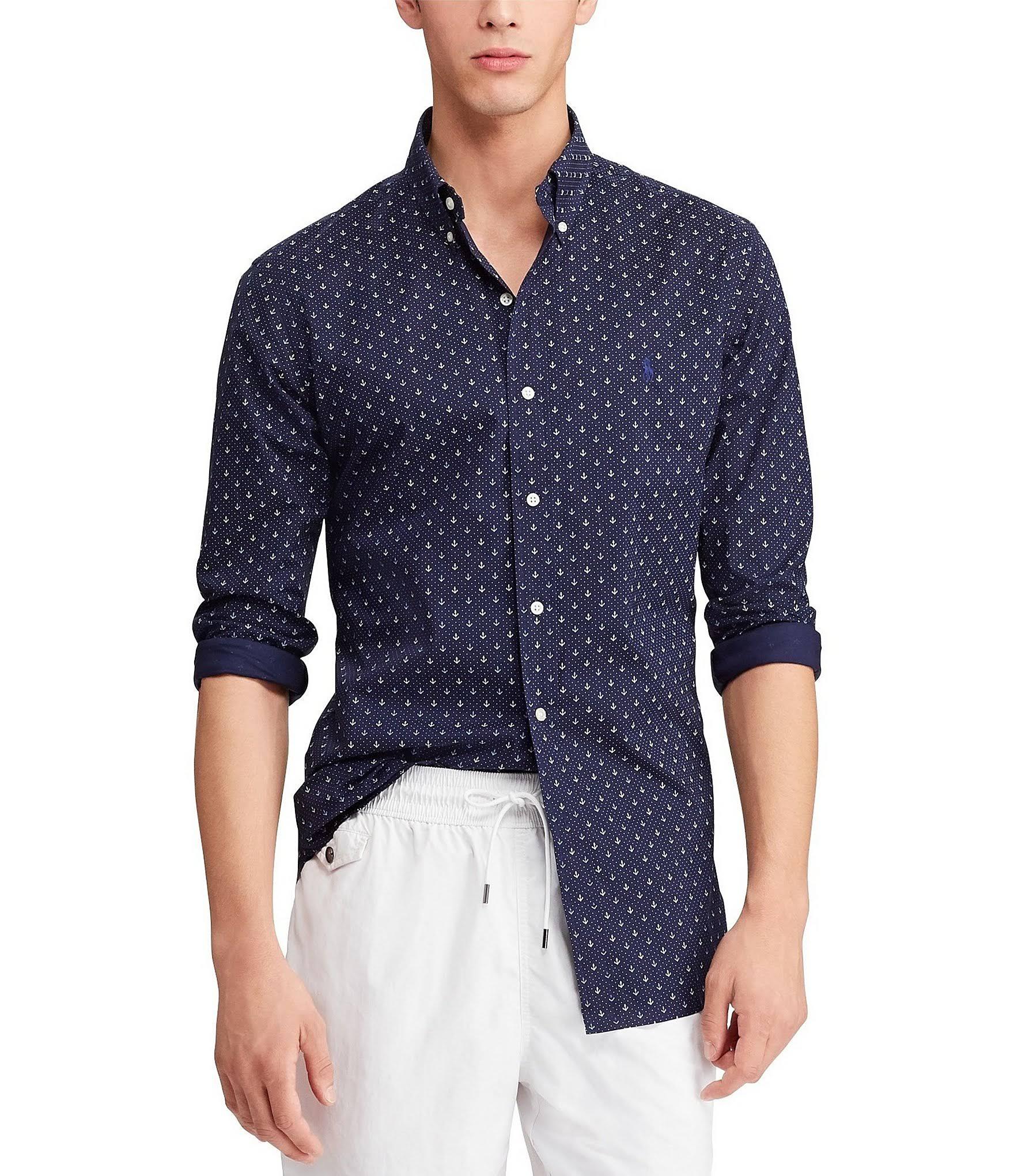 Ralph Mini Lauren Xs In Shirt Dot Anchor Klassisches Größe rgWvUr0P