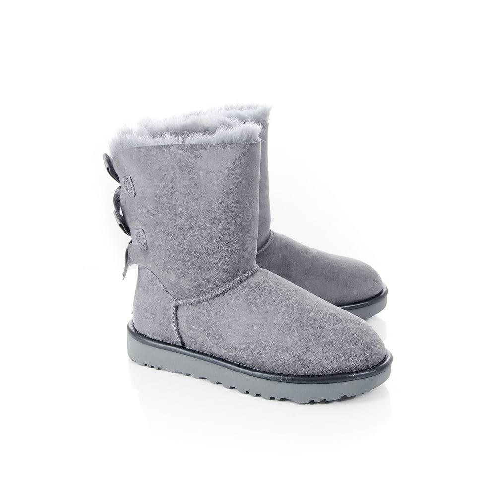 Ugg Boots Bailey Ii Bow Metallic Geyser Grey 6qp6ZwS