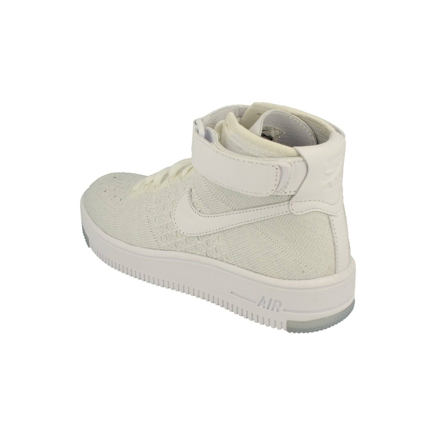 (5) Nike Womens Af1 Air Force 1 Flyknit Hi Top Trainers 818018 Sneakers Shoes 100  D5W7gMu