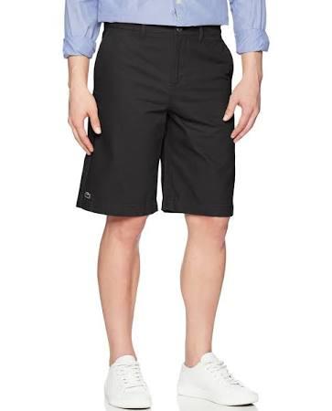 Negro Hombre Bermudas Lacoste Para 32 De Tamaño Tipo Fit Corto Pantalón Chino x8YPX4
