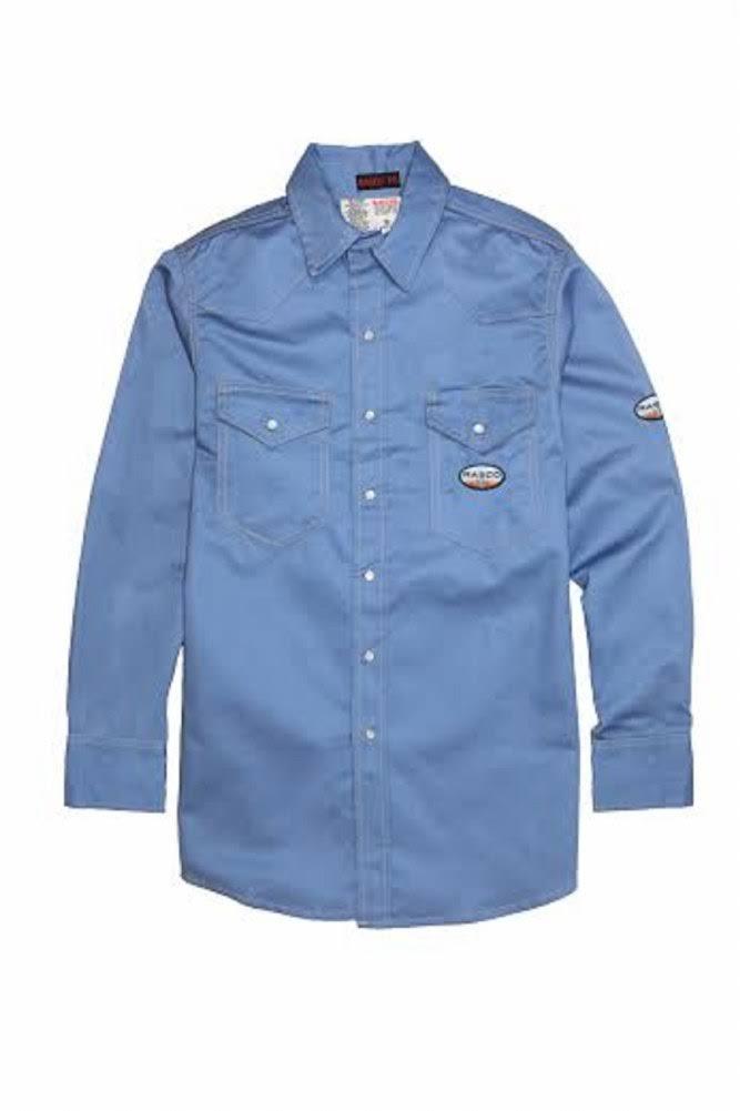 M Ligera Regular Azul Fr Trabajo Rasco Camisa De XwOI7FU