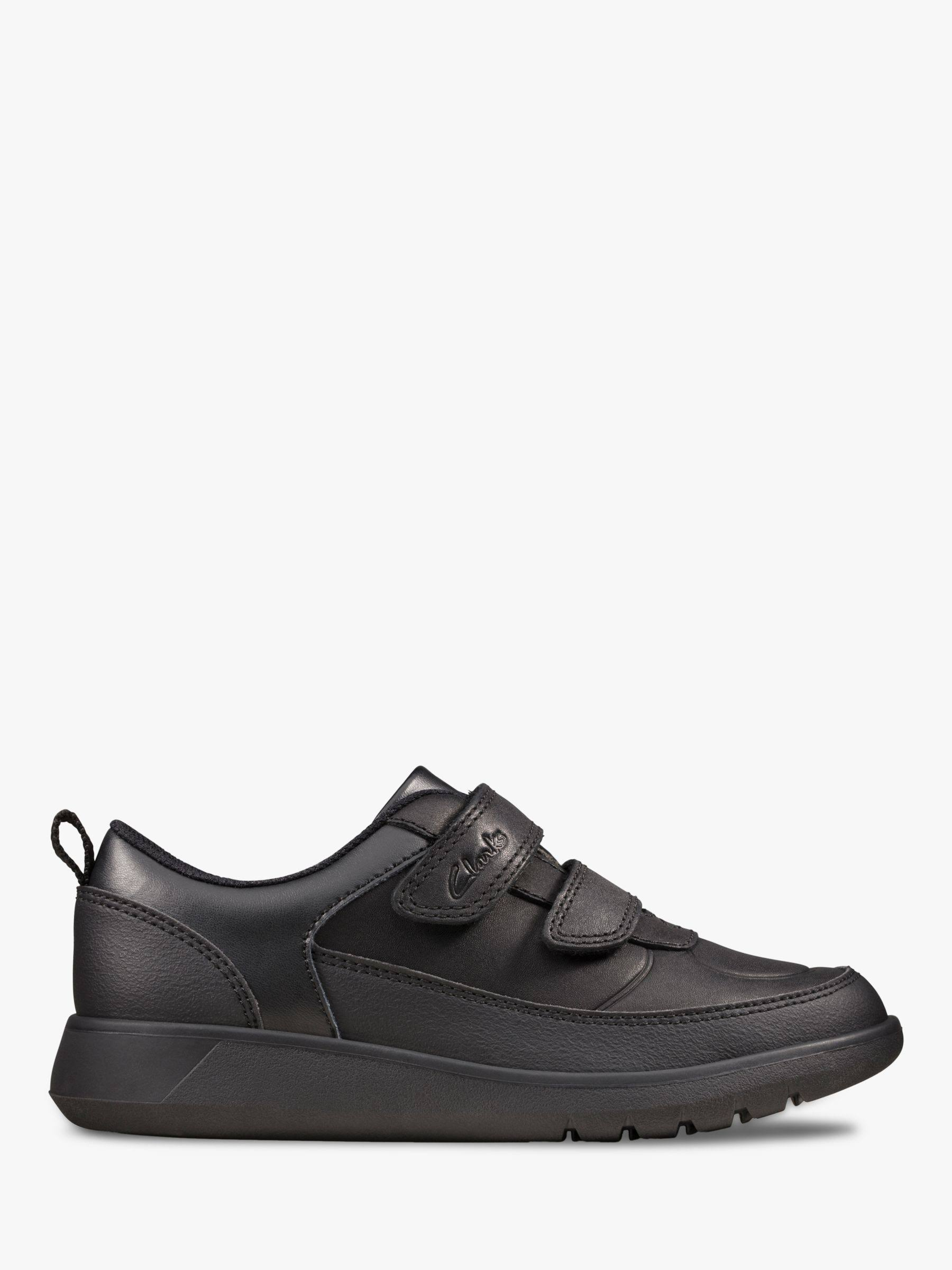 Clarks Kids School Shoes-Scape Flare Kid-Size: 1 F- Black