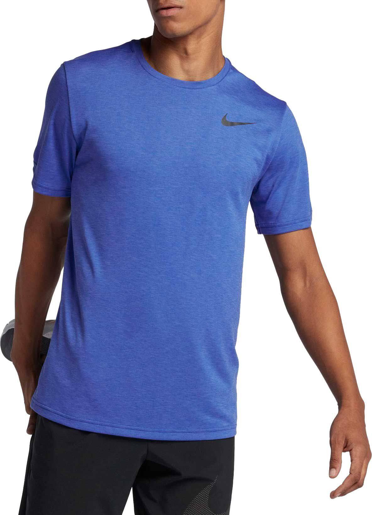 Hombre Para Entrenamiento Regular Camiseta Blue Breathe Hyper Nike Dry De Xl vY0wq05p