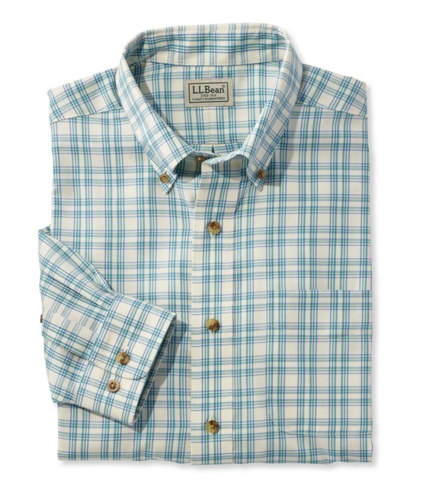 Small bean Herren Twill Knitterfreies Für Blue sporthemd Traditional l Fit L Plaid S7SqAPp8