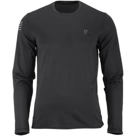 Long sleeved T shirt Long Black size Black Tee Color L Black Pulse Salomon Mens sleeve wqpz58