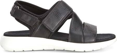 Black Women's Sandal 5 Ecco Strap Soft Cross ZYn4q