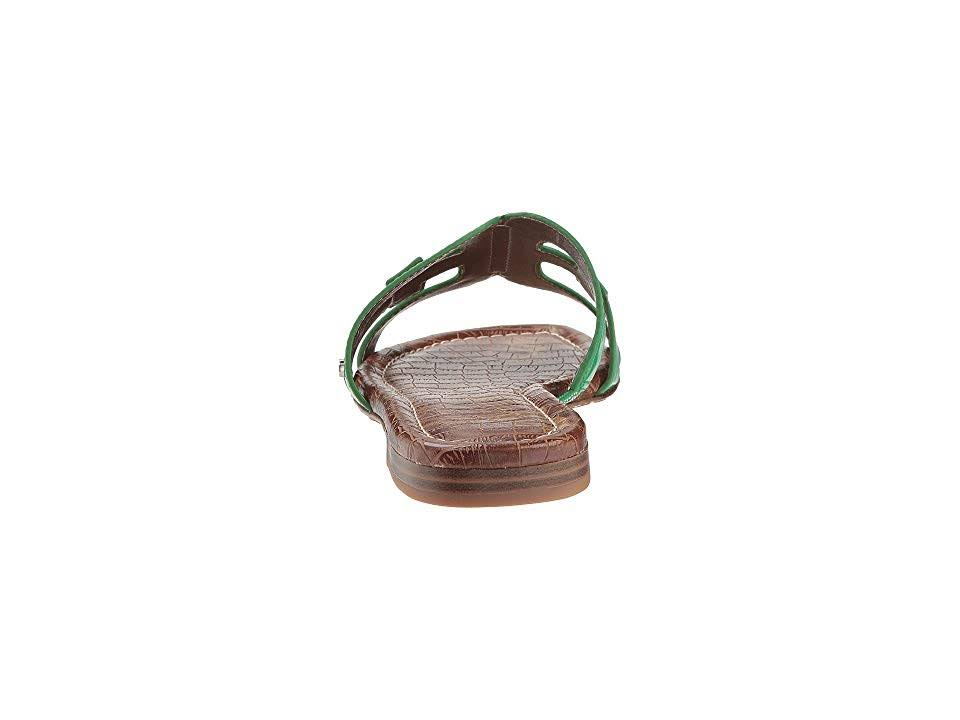 M da Sam Leaf Edelman Bay donna Scarpe Patent8 Slide Green 5 80nPwOk