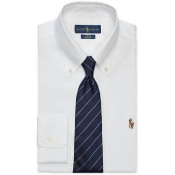 Tamaño En Camisa 5 Ralph Oxford Corte Lauren 18 De Blanco Slim 8rrOYUzq