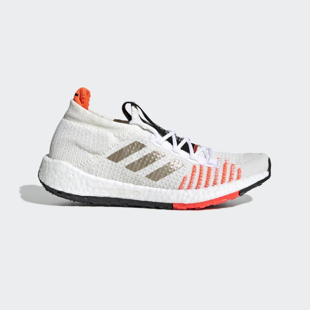 adidas PulseBOOST HD - Core White/Solar Red Kids