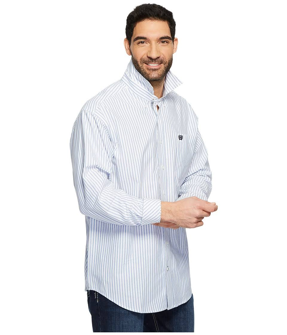 Oxford Mens Shirt Weave Mtw1108002 Manga Cinch Blanco Larga Western Ugqw1PPt