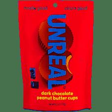 Unreal Dark Chocolate Peanut Butter Cups 8 cups - Vegan