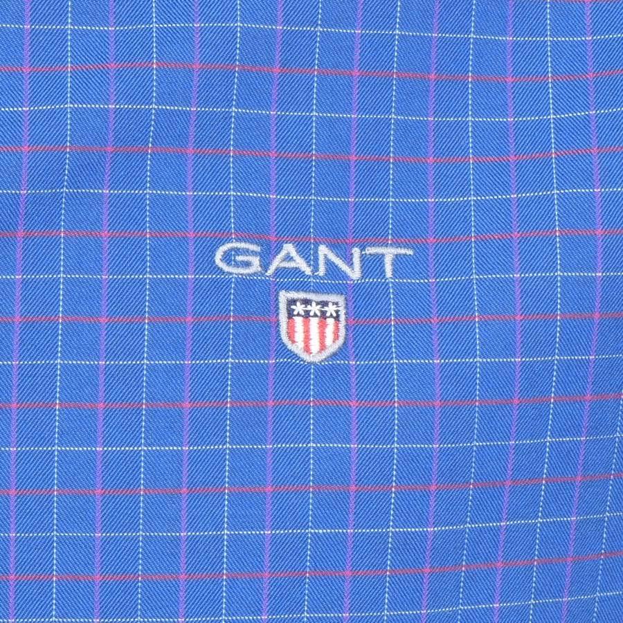 Gant Camisa A Oxford Brushed Azul Cuadros nqprx4zPwq