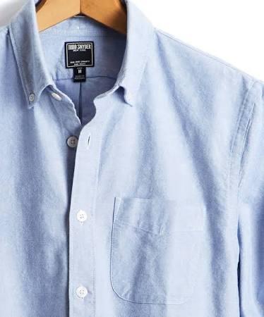 M Todd Japanisches Blau In Snyder hemd Baumwoll oxford qC0HfRq