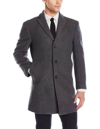X Para Hombre Gris Largos Abrigo Calvin Klein Ajustado Prosper Largo Abrigos xOIRpq