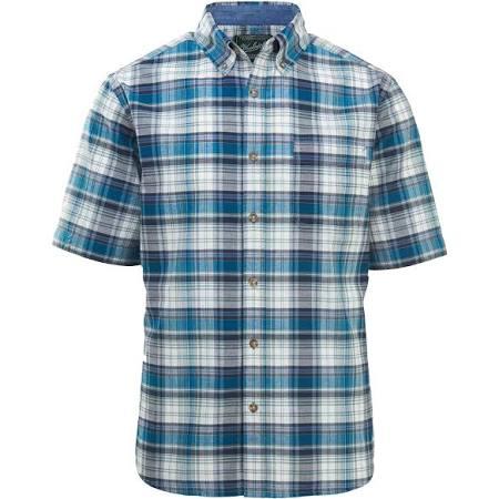 Y Para De Camisa Woolrich Eco Profundo Moderno Corta Índigo Hombre Ajuste Manga Tartán Rich Timberline O1qpYx