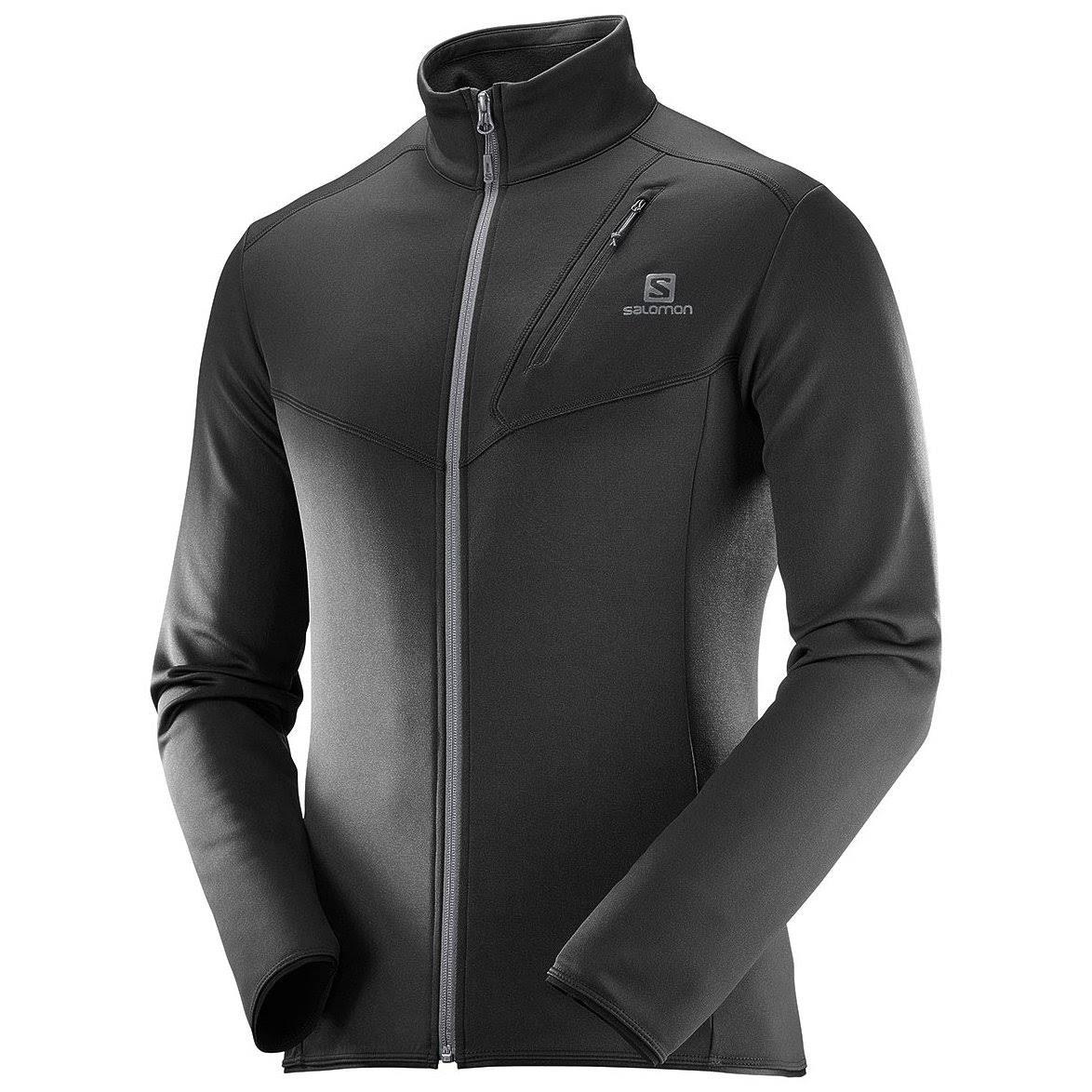Negro Salomon Discovery Jacket Full Hombre Fleece Zip RH1HqwC6
