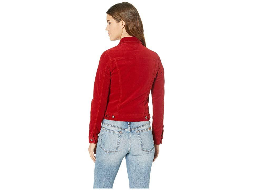 Delantera Mujer Para Chaqueta S Robyn Ag De Pana Amarilis Parte En Roja Jean Con La Botones 6vwO5qwZ