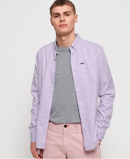 University Oxford Para Camisa Color Hombre Púrpura Tamaño De Premium Superdry M a5wqrwfU